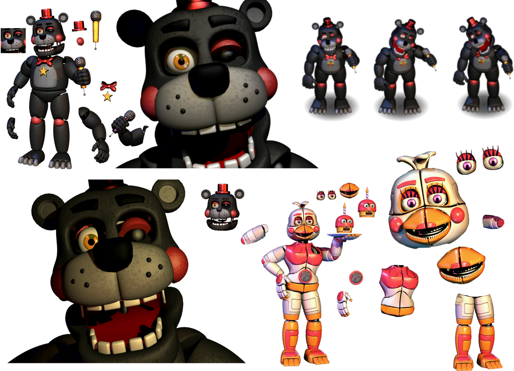 Resource Lefty and Funtime Chica (Reguest) by Fnaf-fan201 on
