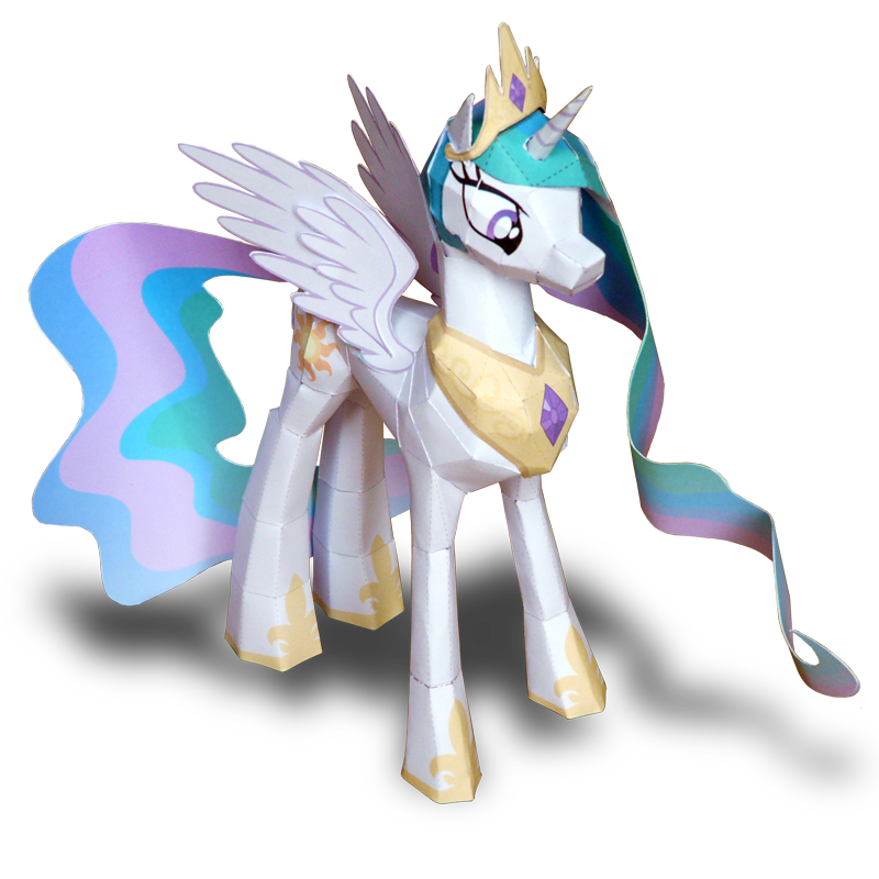 Princess Celestia papercraft by muffinshire