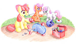 EqD ATG II - Day 11 - A Pony Fixing Something by muffinshire