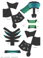 Queen Chrysalis papercraft 2 of 4 by muffinshire