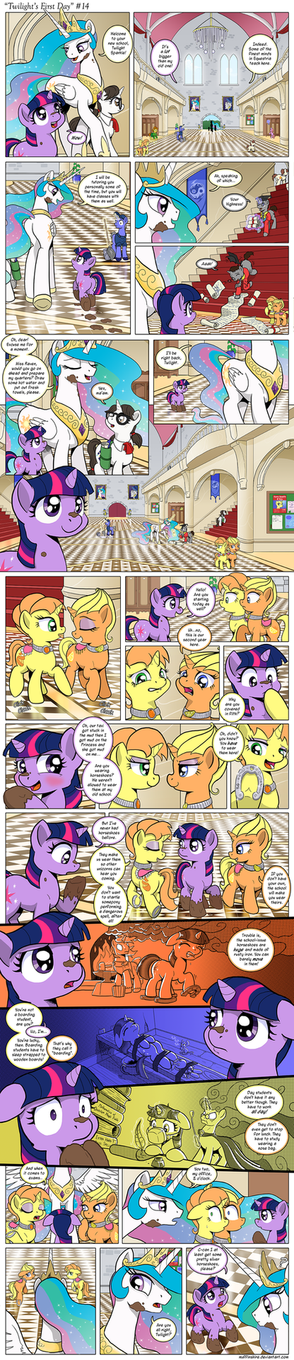 Comic - Twilight's First Day #14 by muffinshire
