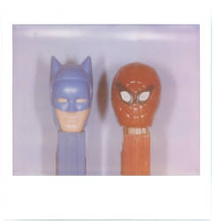 batman and spidey pez