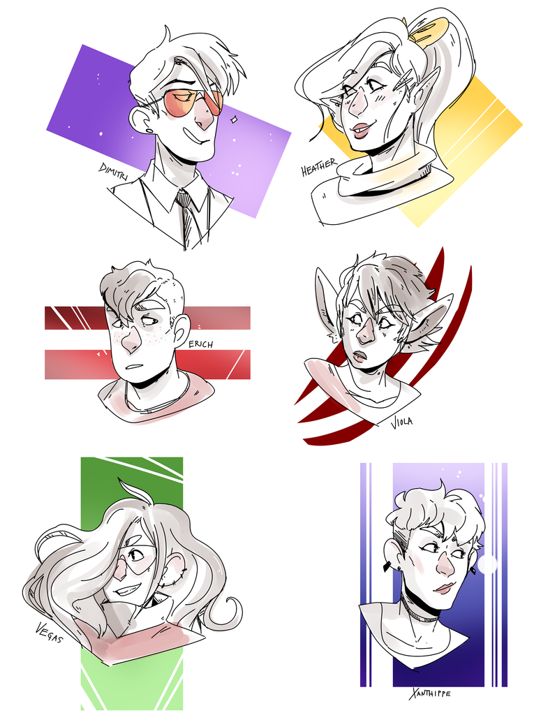 AoX Sketches by Relevancies