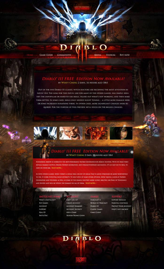 Diablo 3 Website design by Crazy-Trip on DeviantArt