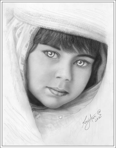 INDIGO CHILD - Pencil Portrait by rroxyann