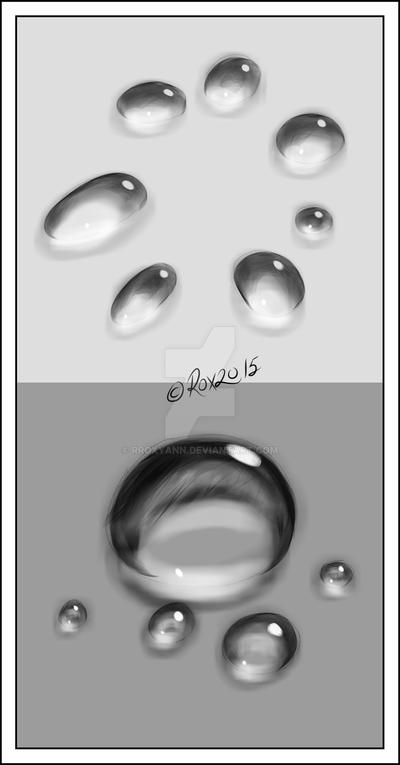 WATER DROPS and CLEAR PEBBLES STUDY -3 by rroxyann