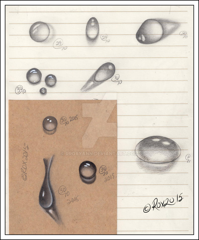 WATER DROPS and CLEAR PEBBLES STUDY - 1 by rroxyann