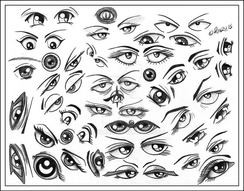 DOODLING EYES by rroxyann