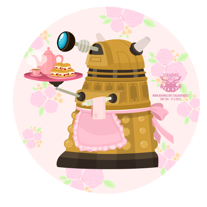 Day 234 - dalek in pink by salvadorkatz
