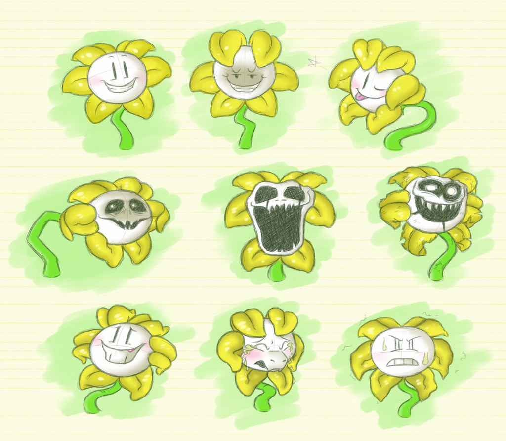 how to draw omega flowey easy