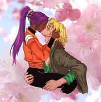 Urahara e Yoruichi kiss by RadiusLunae
