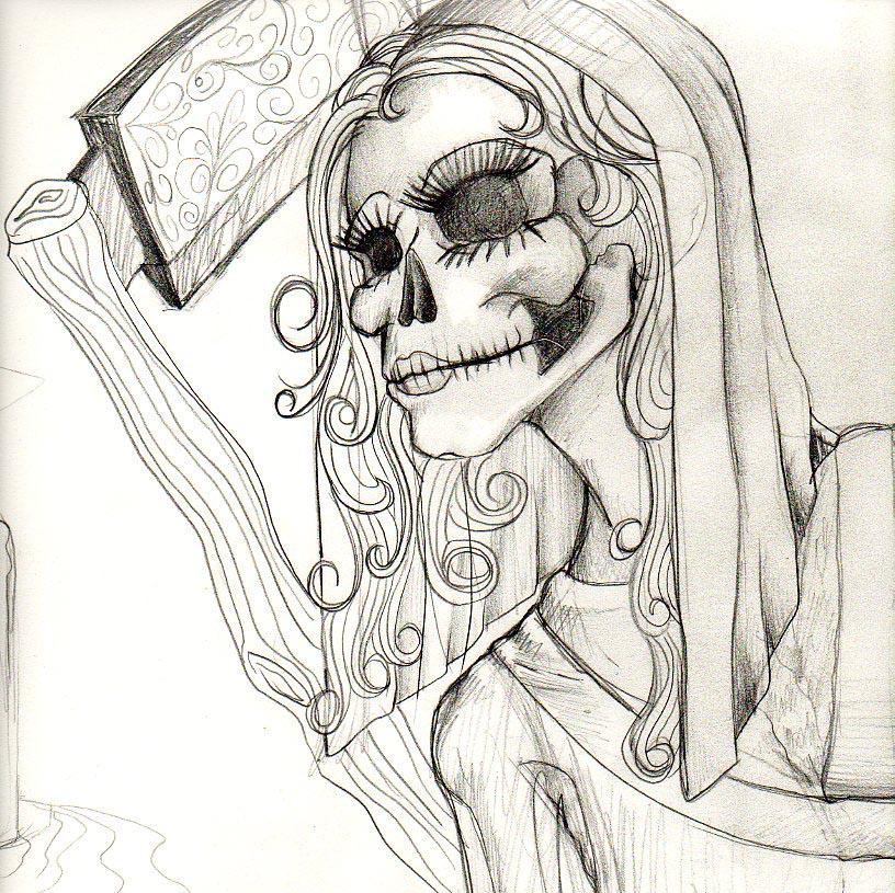 la santa muerte coloring pages - photo #40