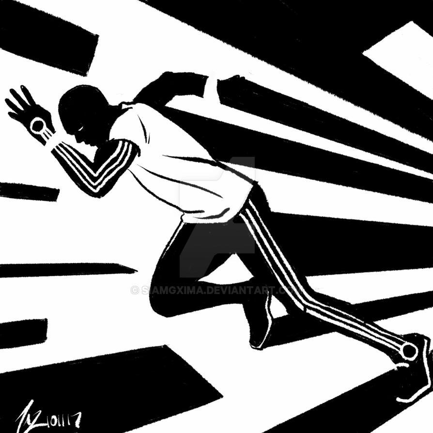 Inktober 2017 : Run by siamgxIMA