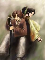 Kenshin and Kaoru by Hyunster