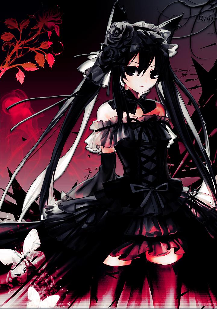 Gothic Nekomimi Anime Girl By Robbo