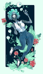Eyes and Flowers by InsaneNudl