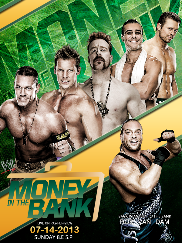 WWE MONEY IN THE BANK 13 POSTER by AHD-GFX