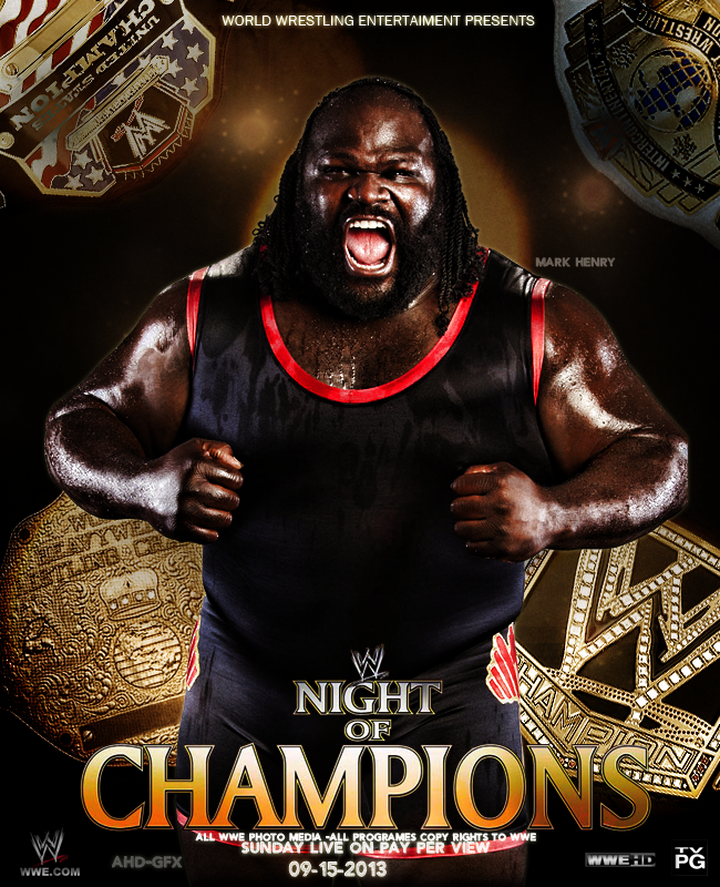 WWE NIGHT OF CHAMPION POSTER by AHD-GFX
