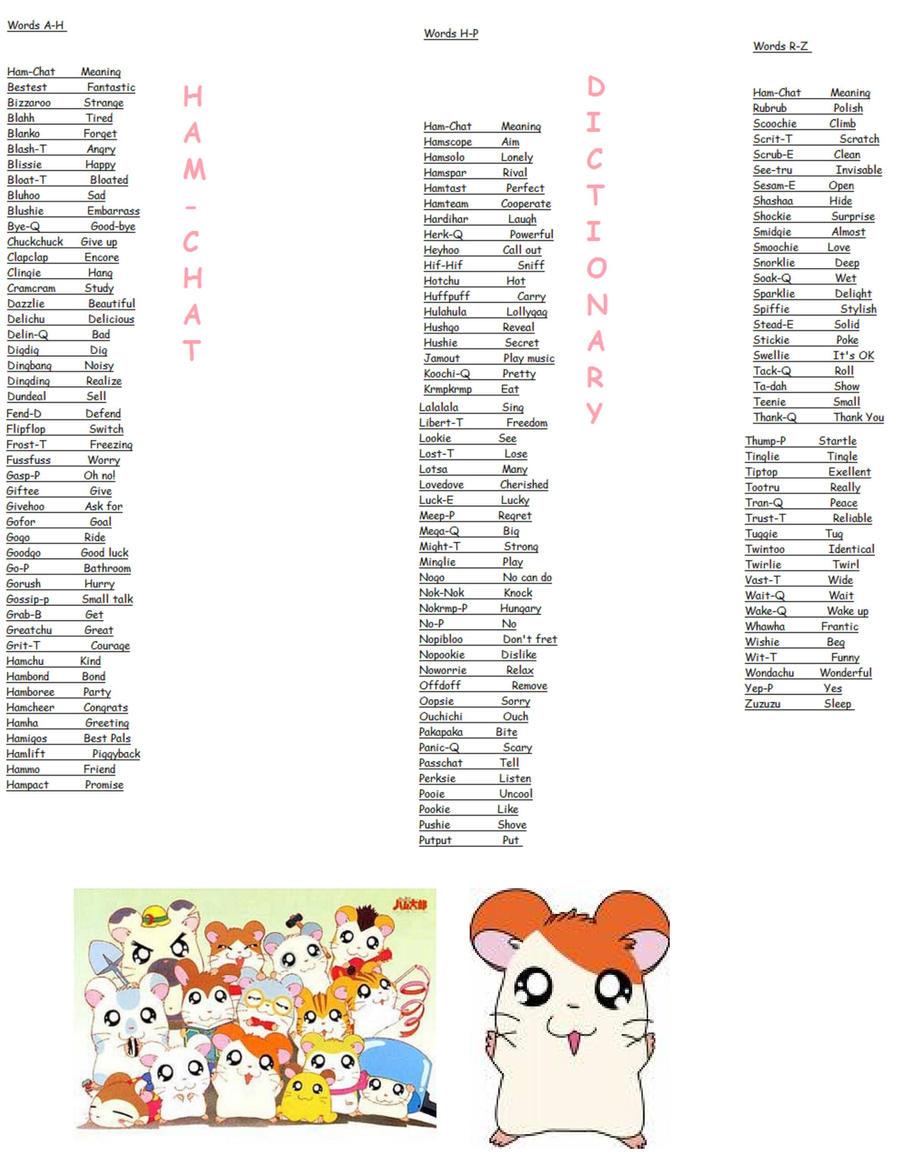Ham-Chat Dictionary by sonamy4eva33 on DeviantArt
