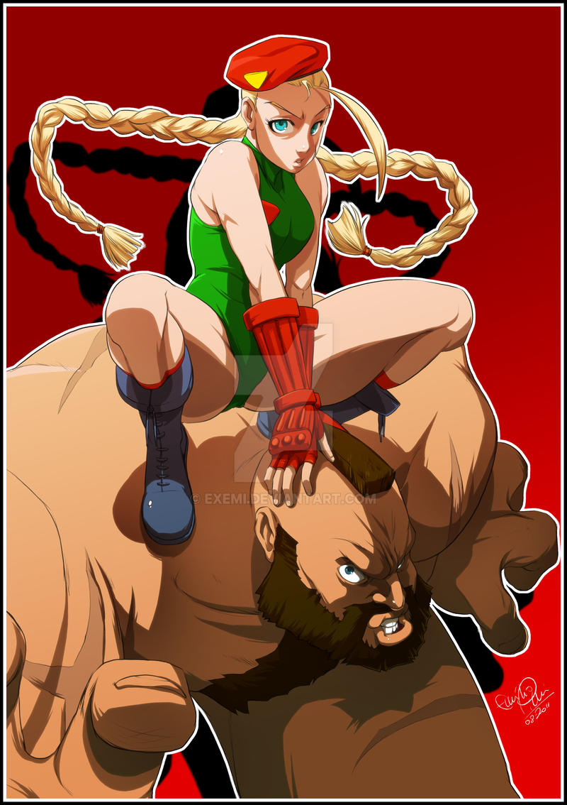 Cammy vs Zangief by Exemi