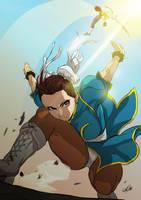 Chun Li vs Vega by Exemi