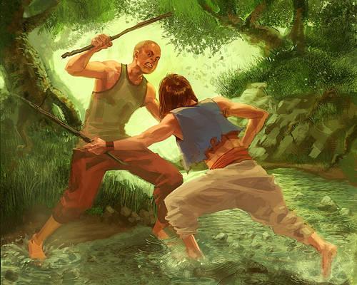 Mock Swordfight