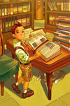 Young Apollo in the Library