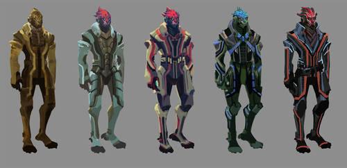 Concepts: Alien detective by axl99