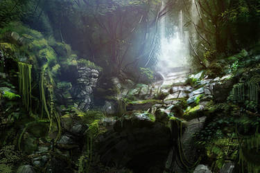 Jungle Ruins by axl99
