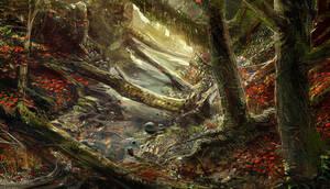 Autumn woods 2 - speedpaint