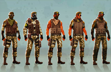 Urban Explorer pitch character concept - Soldier