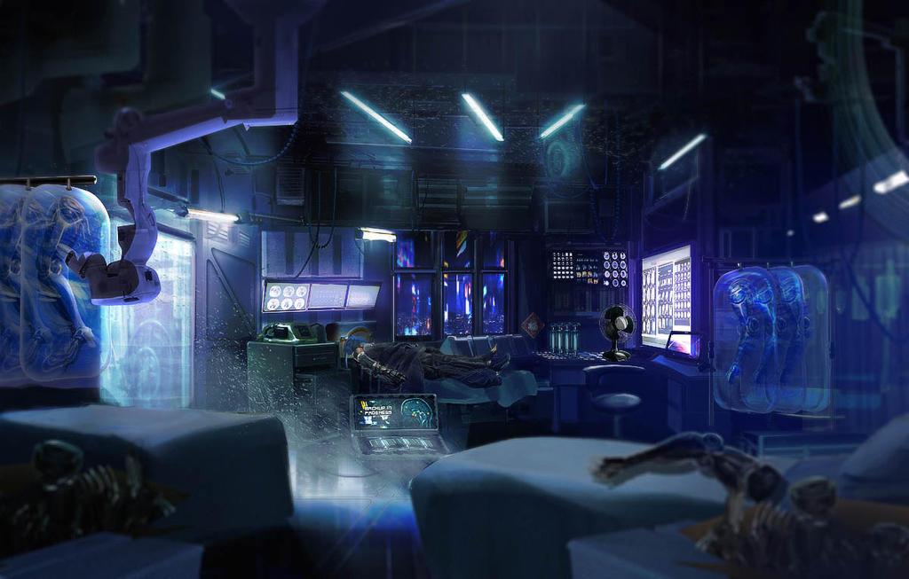 Cyberpunk Med Clinic by axl99