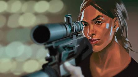 Person of Interest screenshot study - Lady Killer