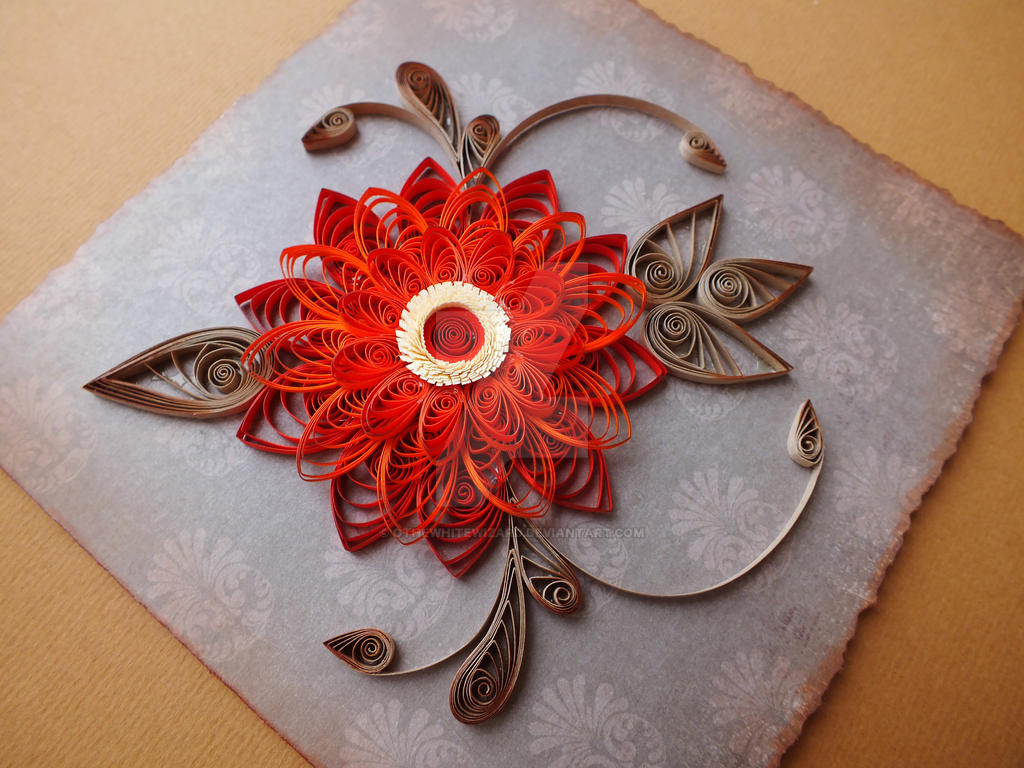 quilling card Antique :) by othewhitewizard