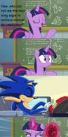 Twilight wakes up Sonic (Meme)