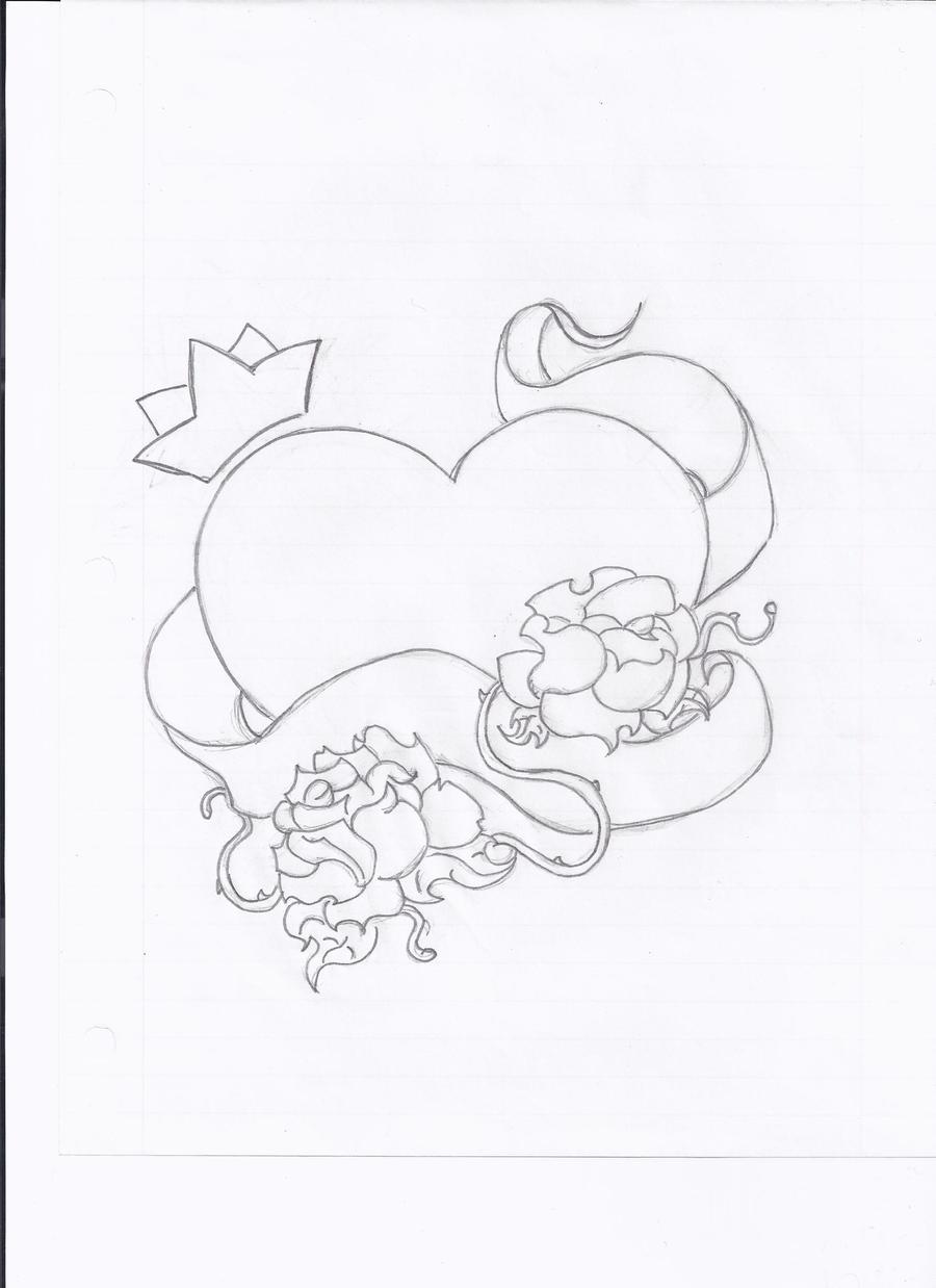 Heart n Crown Tattoo by JohannaBananaBates on DeviantArt