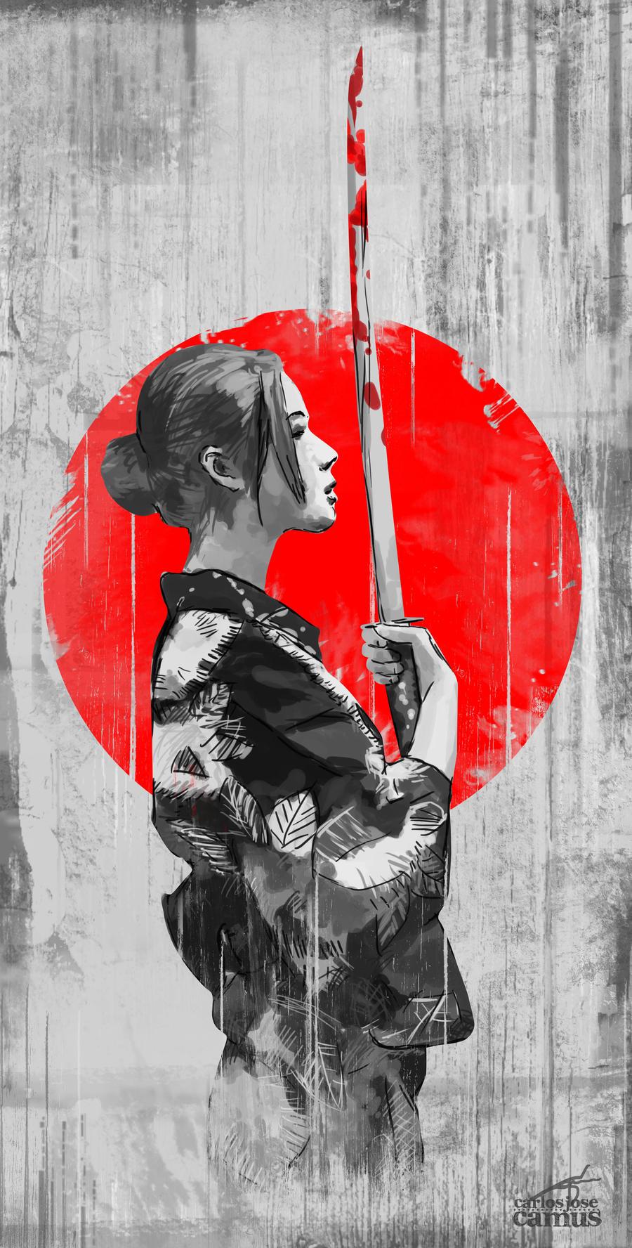 Samurai girl by hvfndr on deviantart for Female samurai tattoo