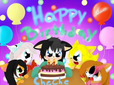 Happy birthday Cheche  by CreatiDrawing