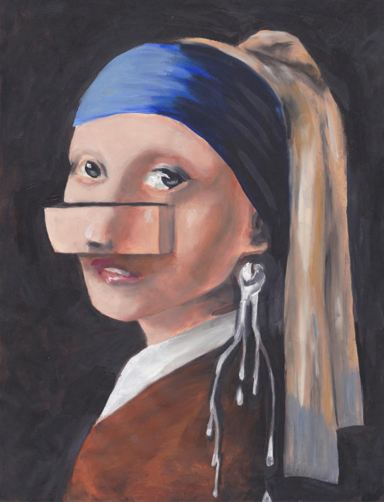 Girl With The Pearl Earring  Surrealism By 0torno