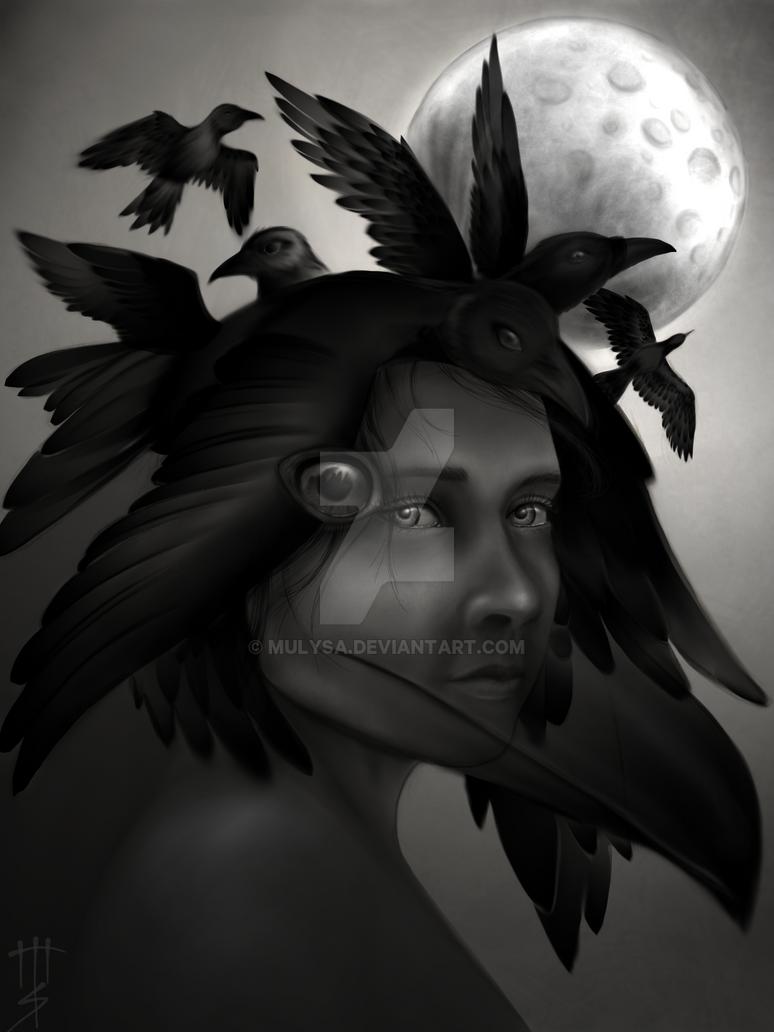 Crow Girl by Mulysa