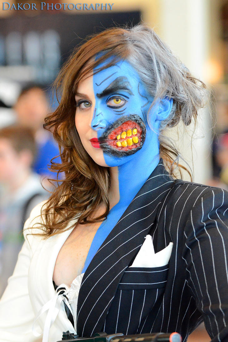 Two Face Feels Lucky In New Batman Arkham City Image: Lady Two Face (2) By PixelZealot On DeviantArt