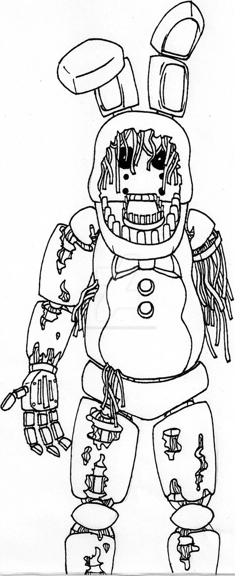 fnaf 3 coloring pages - photo#8