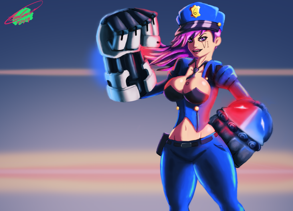 LoL - Officer Vi by Twisted4000