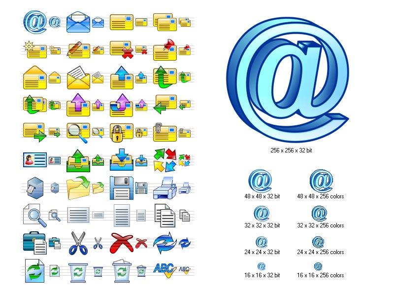 Email Icon Set by Iconoman