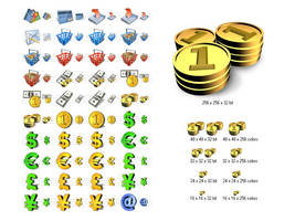 Financial Icon Library by Iconoman
