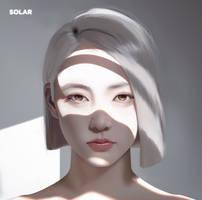Realistic Digital Portrait #3, White Girl