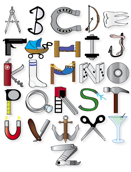 object alphabet by funkymonkey1961 on deviantart With alphabet letters with objects