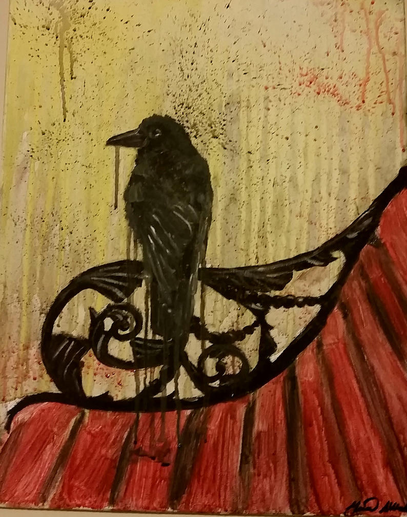 Crow on Bench by Flashoolamona