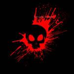 Bloody Skull - black