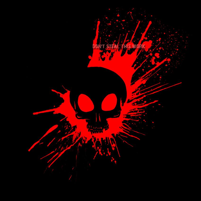 Bloody Skull - black by ZethXD